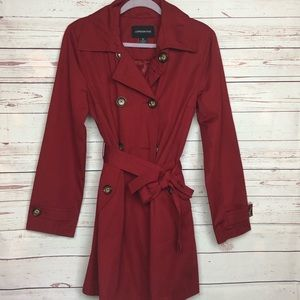 London Fog Red Trench Coat Size M